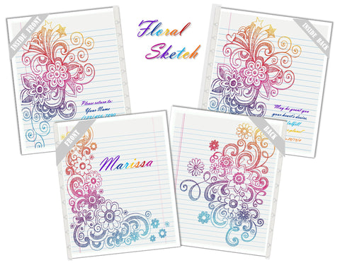 Floral Sketch Covers
