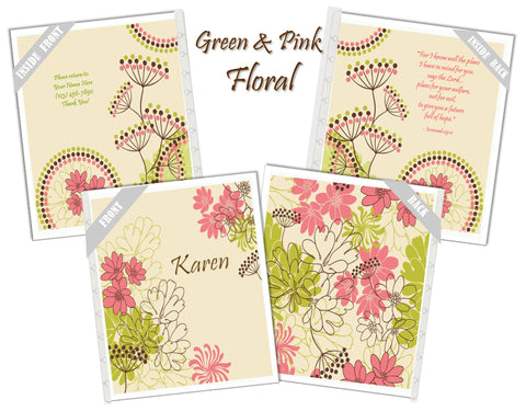 Green & Pink Floral Covers