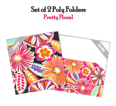 Set of 2 Poly Folders ~ Pretty Floral