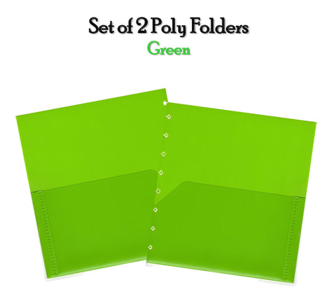Set of 2 Poly Folders (Green)