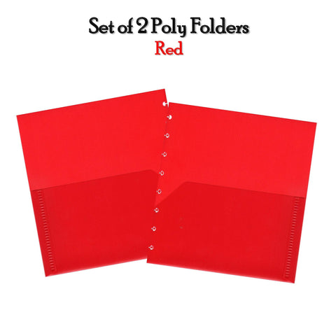 Set of 2 Poly Folders (Red)