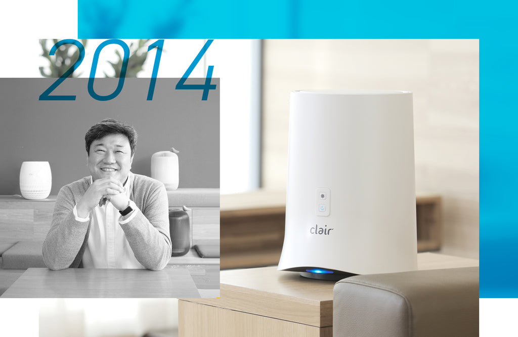 Clair's 2014 milestones, such as the incorporation of Clair, Inc. and successfully launching 2 air purifier products back to back, the Clair Ring and Clair Wind