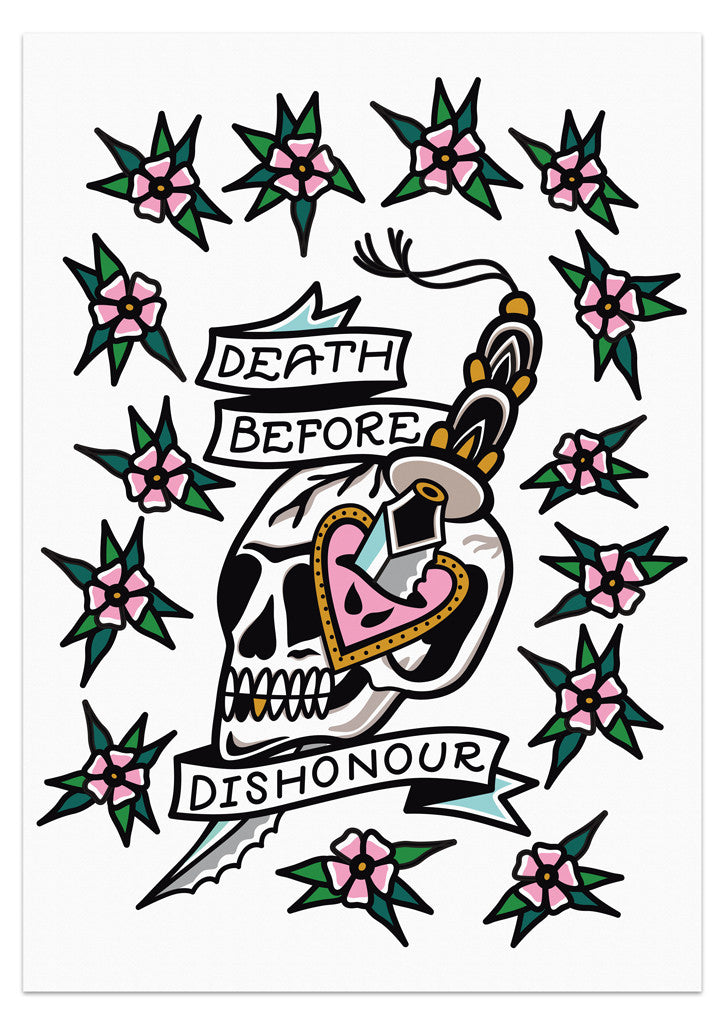 'Death Before Dishonour' Poster by Steen Jones