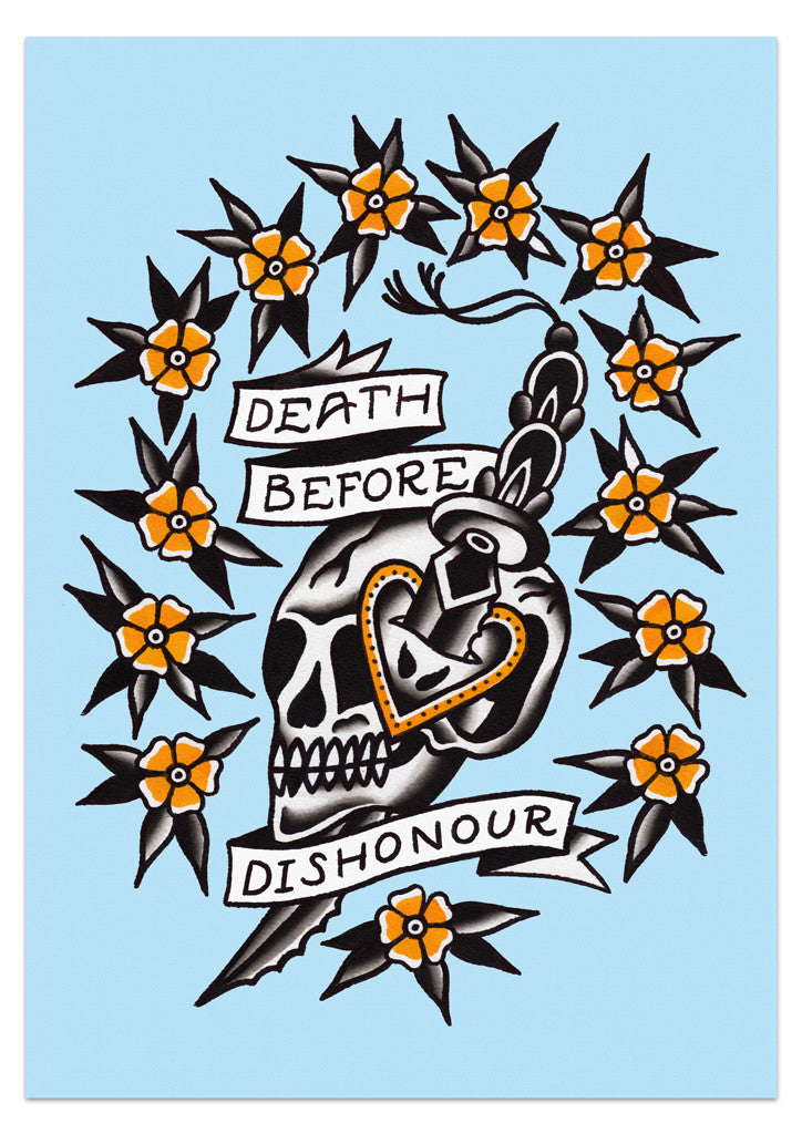 'Death Before Dishonour' Print by Steen Jones