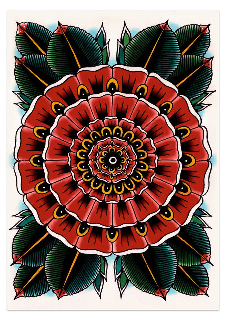 'Geo Flower' Poster by Steen Jones - 1