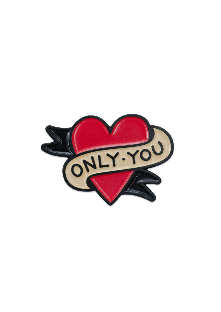 'Only You' Lapel Pin by Steen Jones