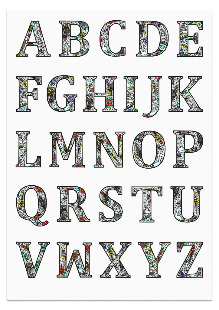 'SJ Alphabet' Poster by Steen Jones