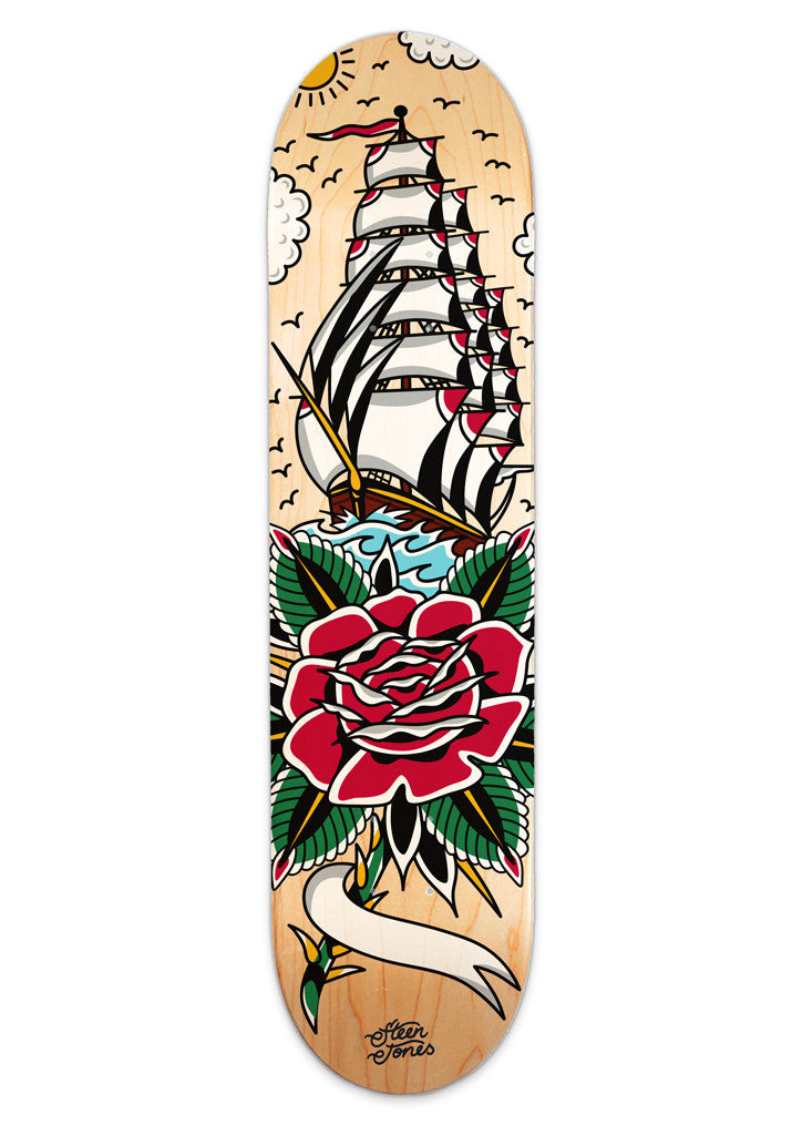 'Sail Away With Me' Custom Skateboard by Steen Jones