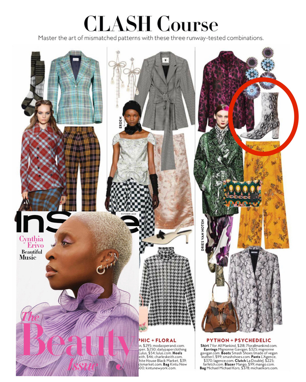 Smash Shoes style MIA featured in October 2020 issue of Instyle Magazine