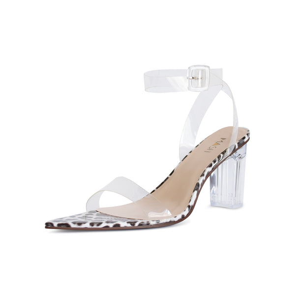 Clear heels in large sizes