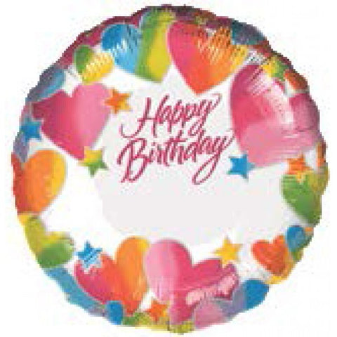 Personalized Birthday Hearts - 18""