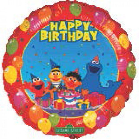 Sesame Street Birthday - Personalized 18""