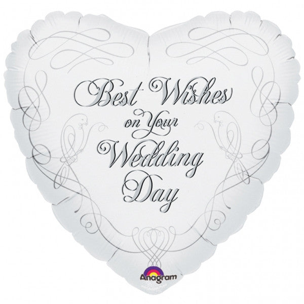 Wedding Doves Best Wishes - 18""