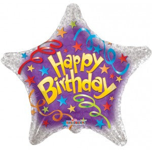Star Shaped Birthday Streamers - 18""