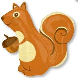 Autumn Squirrel Supershape - 30""