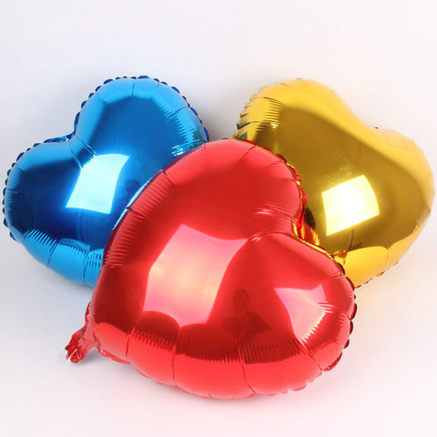 Metallic Heart Shaped Balloon - 18""