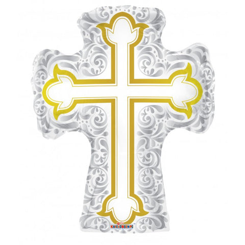 Silver & Gold Cross Shape - 28""