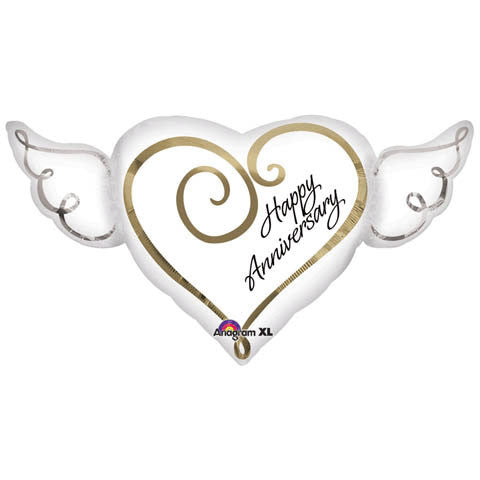 SuperShape Anniversary Heart with Wings - 33""