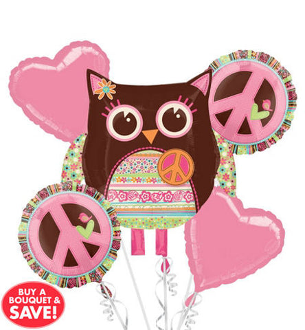 Hippie Chick Owl Bouquet & Party Packages
