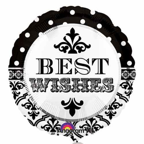 Damask & Dots Best Wishes - 18""