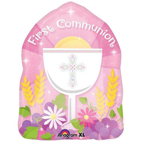 JuniorShape Blessed 1st Communion Blue or Pink - 18""