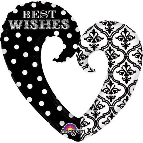 SuperShape Damask & Dots Best Wishes - 32""