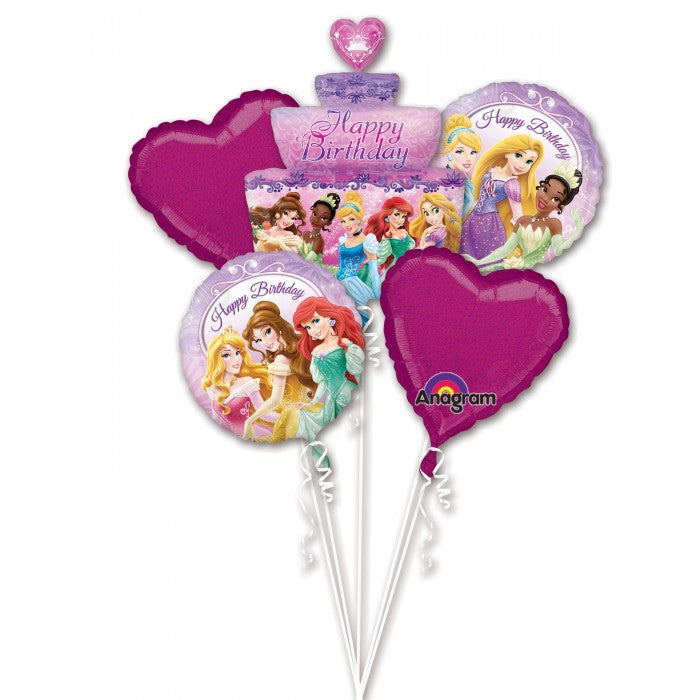 Disney Princess Birthday Cake Balloon Bouquet & Party Packages