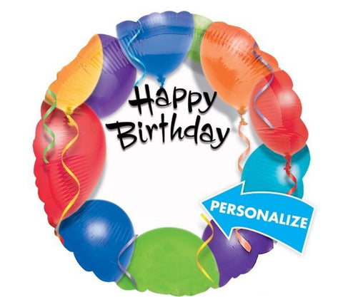 Happy Birthday Balloon Personalized - 18""