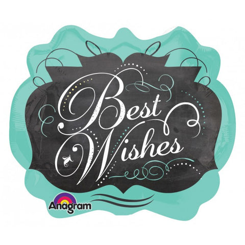 SuperShape Chalkboard Best Wishes - 22""