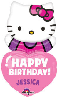 Hello Kitty Personalized Happy Birthday - 32""