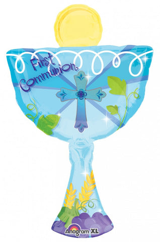 SuperShape 1st Communion Chalice Pink or Blue - 31""