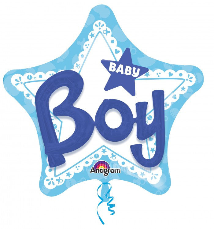 Multi-Balloon Celebrate Baby Boy - 36""