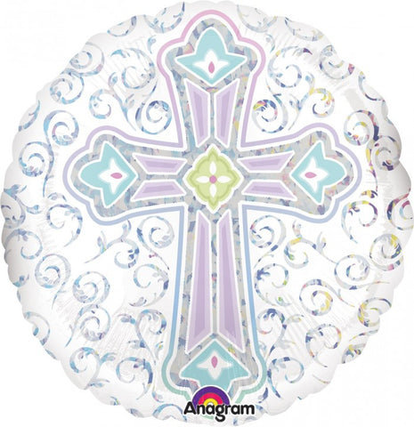 Holigraphic Radiant Cross - 18""