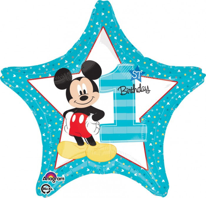 Star Mickey 1st Birthday - 18""