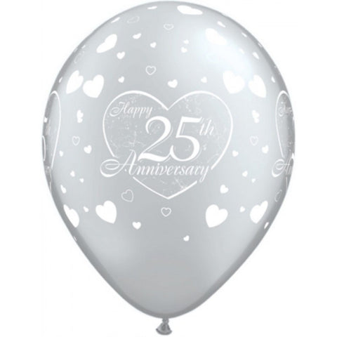 25th Anniversary Little Hearts Silver - 11""