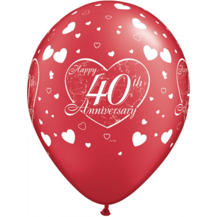 40th Anniversary Little Hearts Silver - 11""