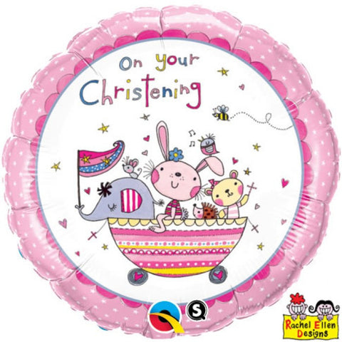 On Your Christening Pink or Blue - 18""