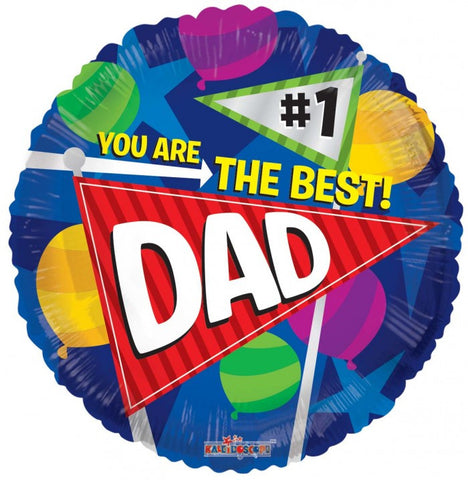 Best Dad Pennants - 18""