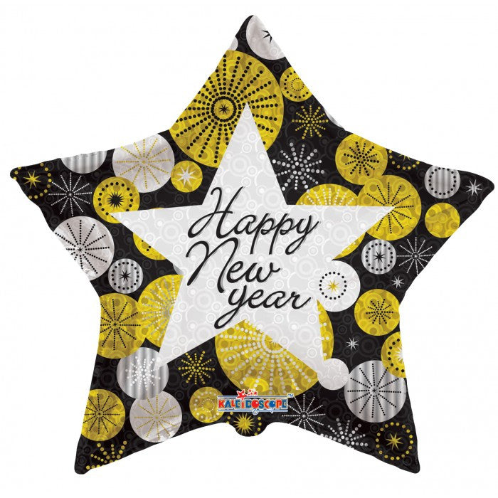 Happy New Year Celebrate Star - 18""