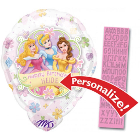 Princess Birthday Floral Personalized - 18""