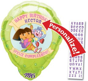 Dora & Boots Happy Birthday Personalized - 18""