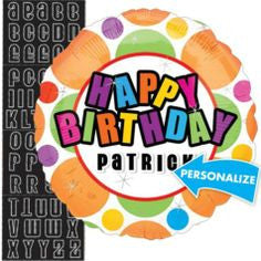 Personalized Birthday Dots - 18""