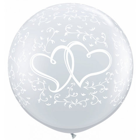 Entwined Hearts Diamond Clear - 11""