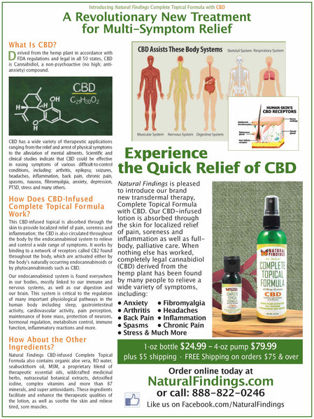 Natural Findings Complete Topical Formula with CBD ad