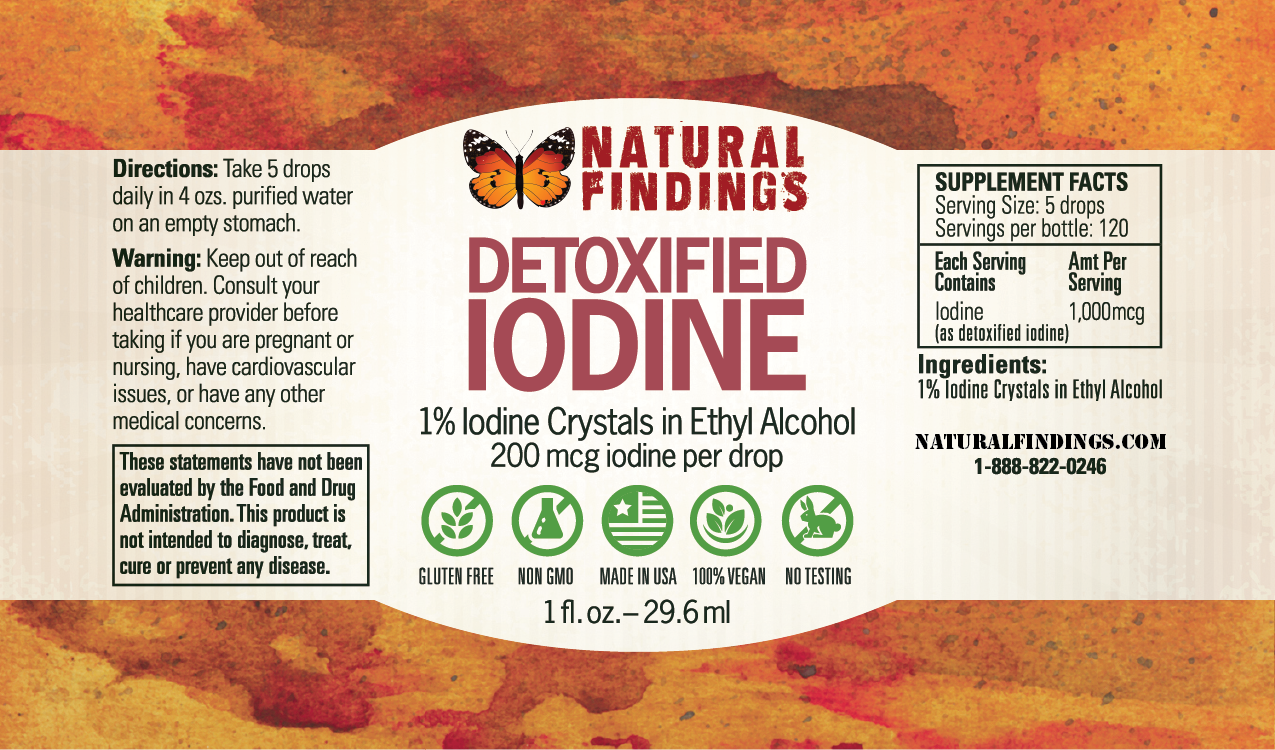 Detoxified Iodine from Natural Findings - NaturalFindings com