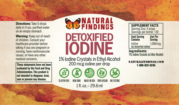 Detoxified Iodine Label