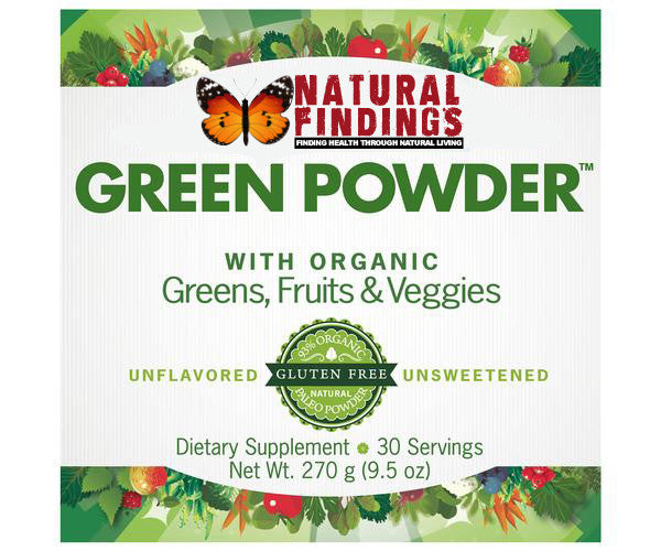 Natural Findings Green Powder Label