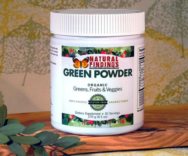 Natural Findings Green Powder - Organic, Gluten Free, Paleo