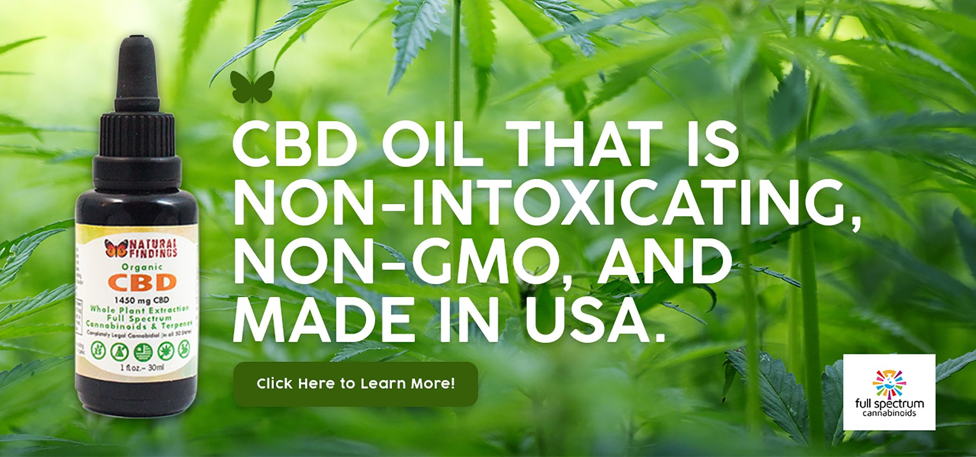 Organic CBD Oil Natural Findings Non-gmo Made In Usa