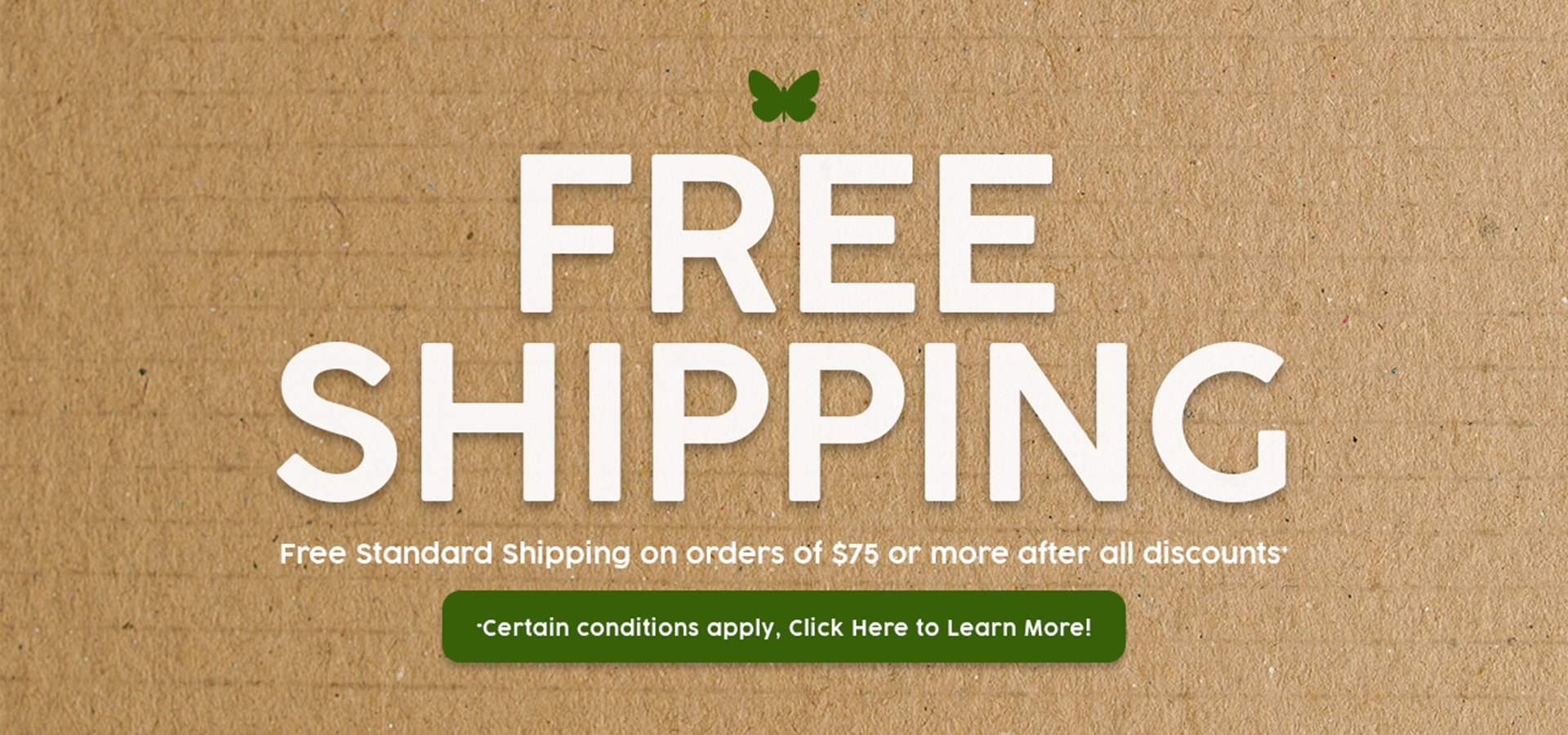 Free Shipping from Natural Findings on orders of $75 or more